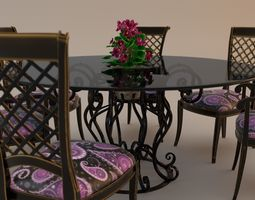 3D Dinner table Forget