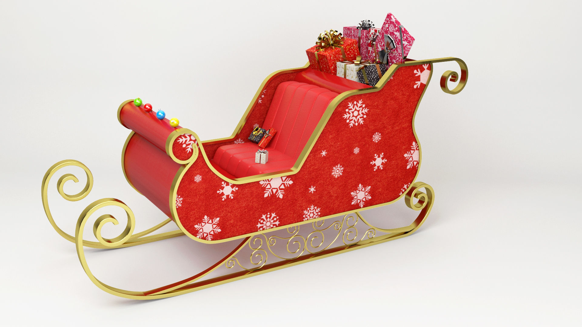 Santa Claus Sled - Christmas Sled - Chritmas Gift -