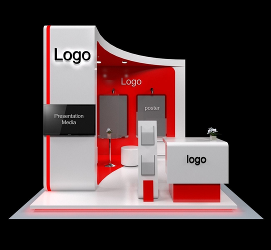 Exhibition Stand Design 3d Max : Exhibition stand booth d model cgtrader