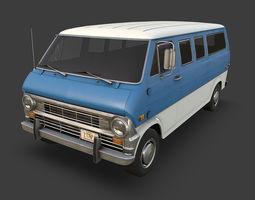 3D asset Retro Van