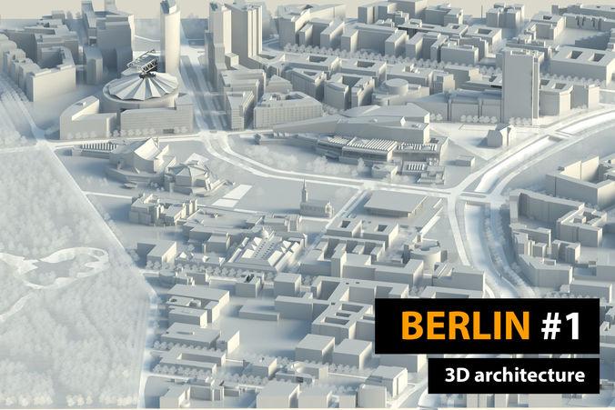 berlin city 3d model skp 1