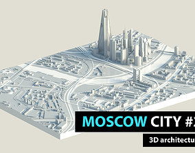 3D model Moscow City Downtown