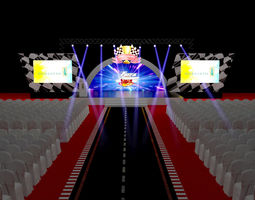 3D architectural truss Stage
