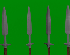Detailed LowPoly Spear 3D asset