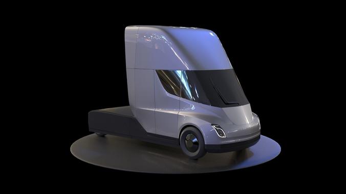 Tesla Semi Truck 3D model   CGTrader