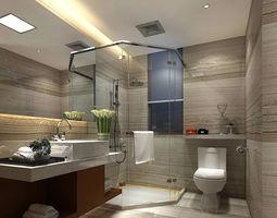 3D bathroom design complete model 145
