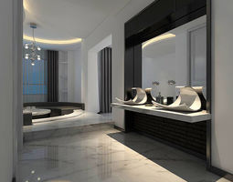bathroom design complete model 168 3D