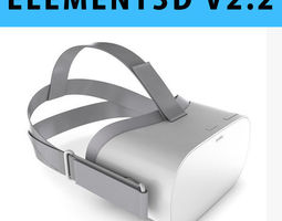 E3D - Oculus Go Headset 3D model