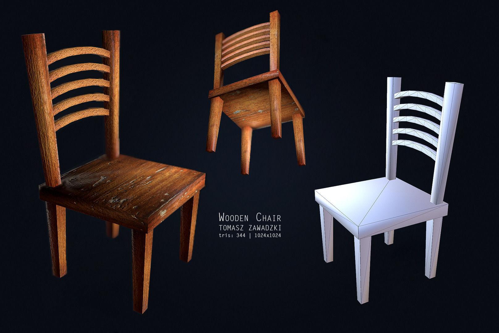 Superbe ... Chair Set   Low Poly 3d Model Low Poly Obj Mtl 3ds Fbx Blend Dae ...