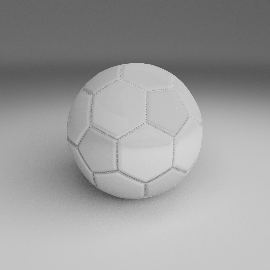 High Quality 3d Models: 3D Model High Quality White Football VR / AR / Low-poly