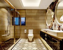 Family style sanitary bath toilet 1817 3D