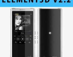 E3D - Sony Walkman NW-ZX300 MP3 Players 3D 3D model