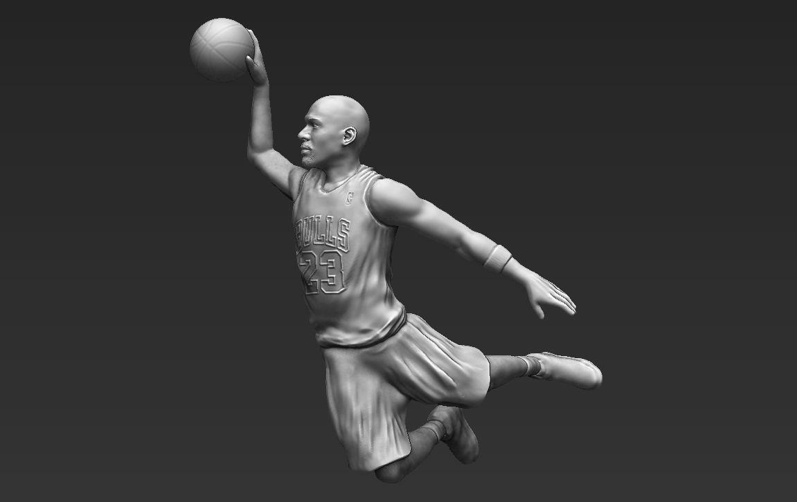 Michael Jordan 3D printing ready stl obj formats