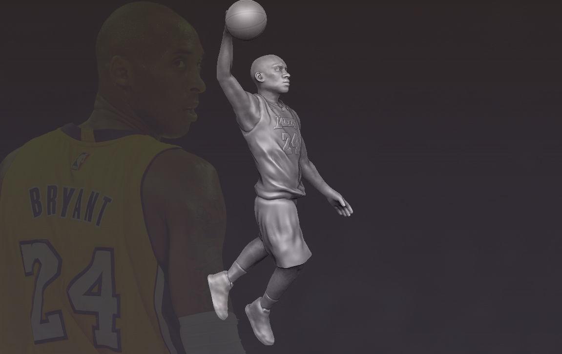 Kobe Bryant 3D printing ready stl obj formats