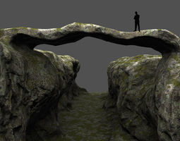 canyon bridge 3D model