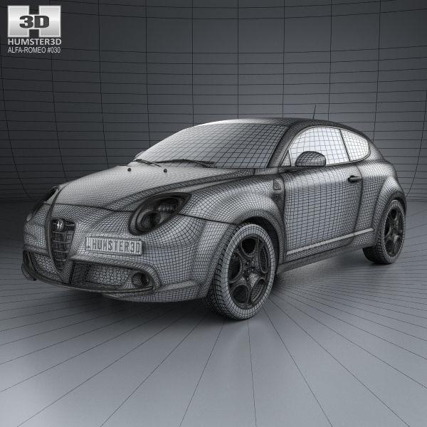 3d Model Alfa Romeo Mito Quadrifoglio Verde 2014