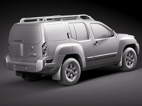 nissan xterra 2009 3d model max obj 3ds fbx c4d lwo lw lws. Black Bedroom Furniture Sets. Home Design Ideas