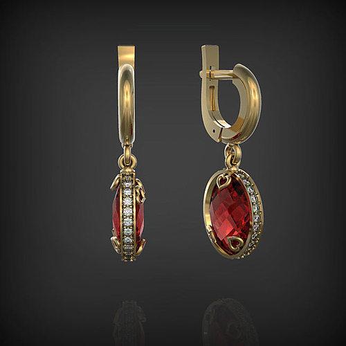 earrings 3d model stl 1