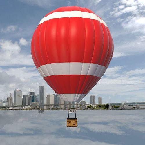 balloon hot air 3d model max obj mtl 3ds fbx 1