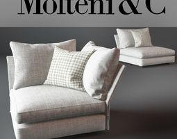 Holiday Sofa Molteni 3D model