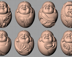 Chinese sculpture model Eight happy Buddhas B128