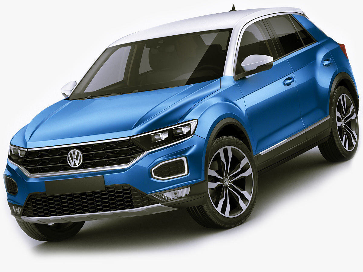 Model Vw T Roc 2018 Cgtrader