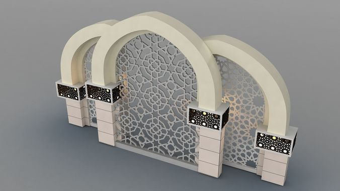 islamic decoration 3d model max obj mtl fbx 1