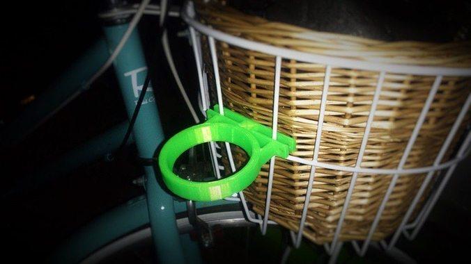coffee cup holder bike basket attachment 3d model stl blend 1