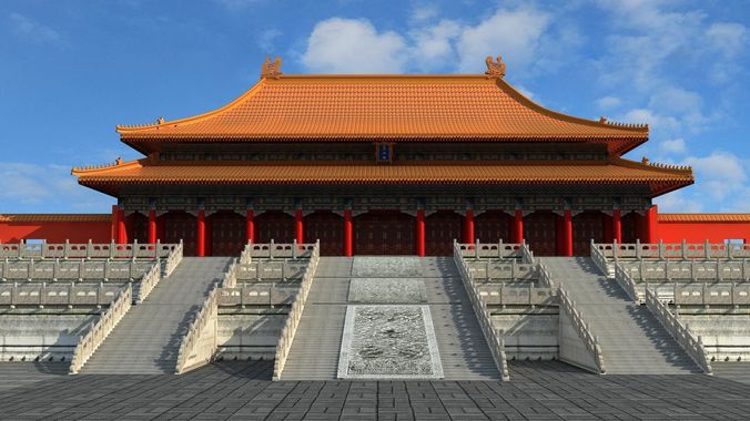 3d Chinese Imperial Palace Forbidden City Cgtrader