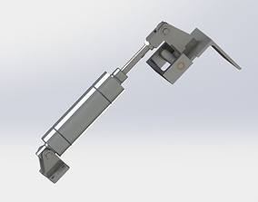 Cylinder restraining mechanism industry 3D model