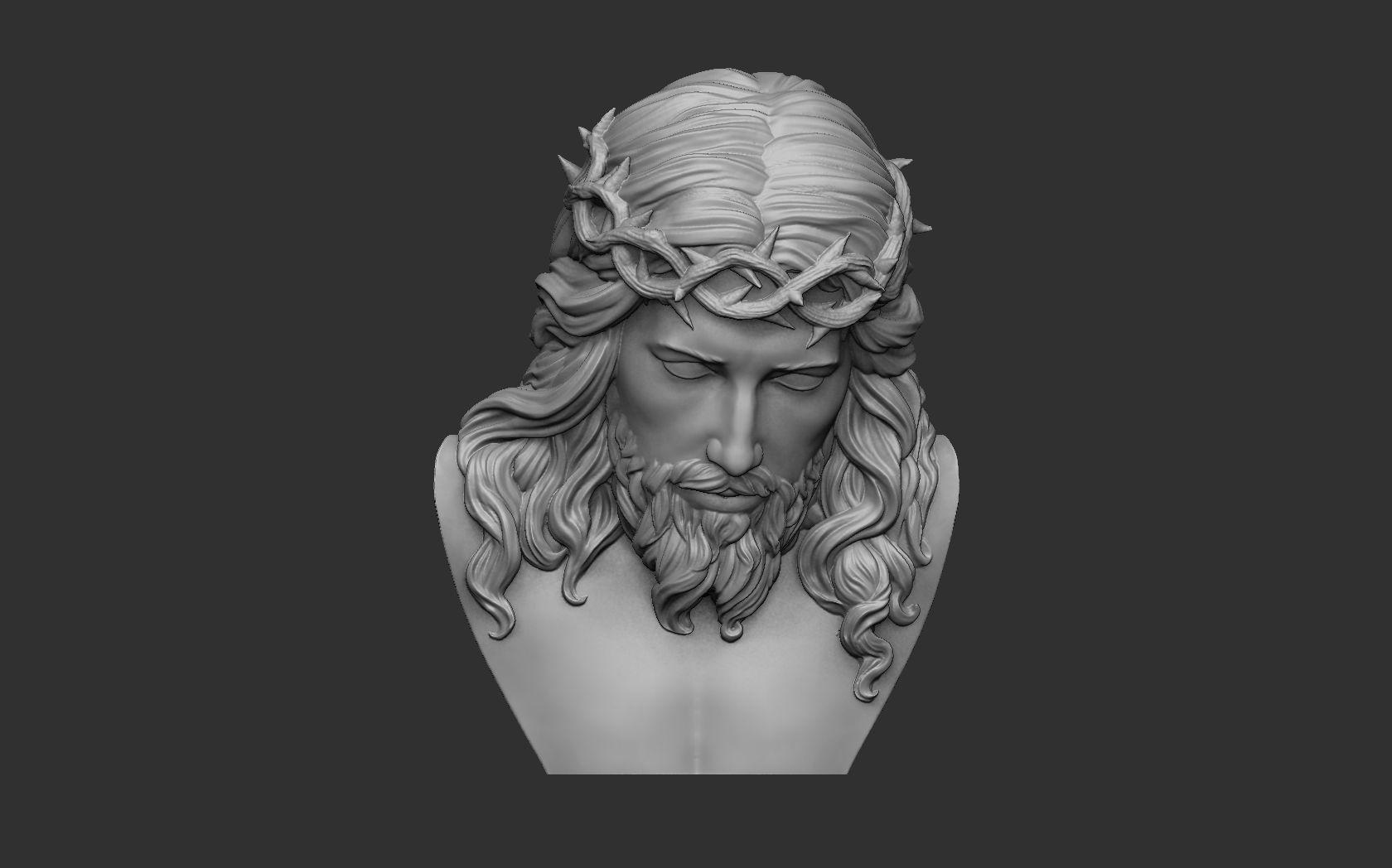 Jesus Bust Relief