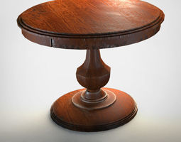 Old Round Table A0 3D model