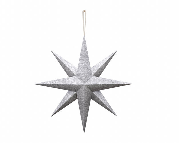 star wall decoration with hanger  3d model low-poly obj mtl 3ds fbx dae 1
