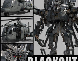 Blackout is back - 3d animated transformer animated