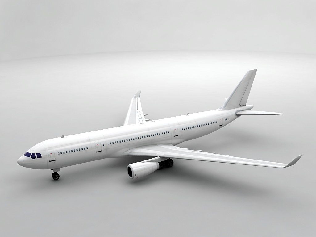 Airbus A330-200 Airliner - Generic White