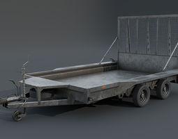 Trailer 3D model VR / AR ready