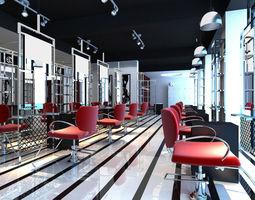 Hairdressing room 002 3D