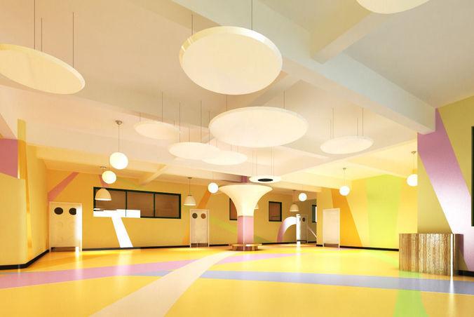 kindergarten space 001 3d model max 3ds 1