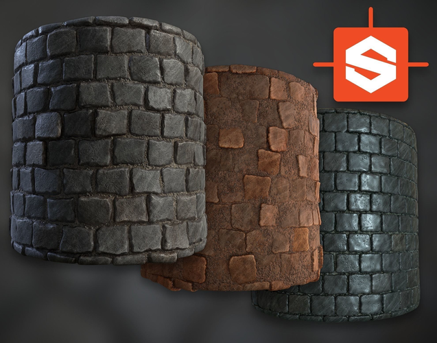 procedural pbr cobblestone texture 3d model tga 1