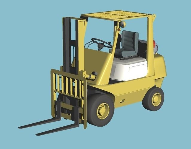 3d old counter type fork lift cgtrader