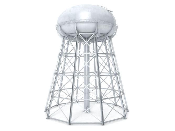 water storage tower 3d model max obj mtl 3ds fbx c4d lwo lw lws 1