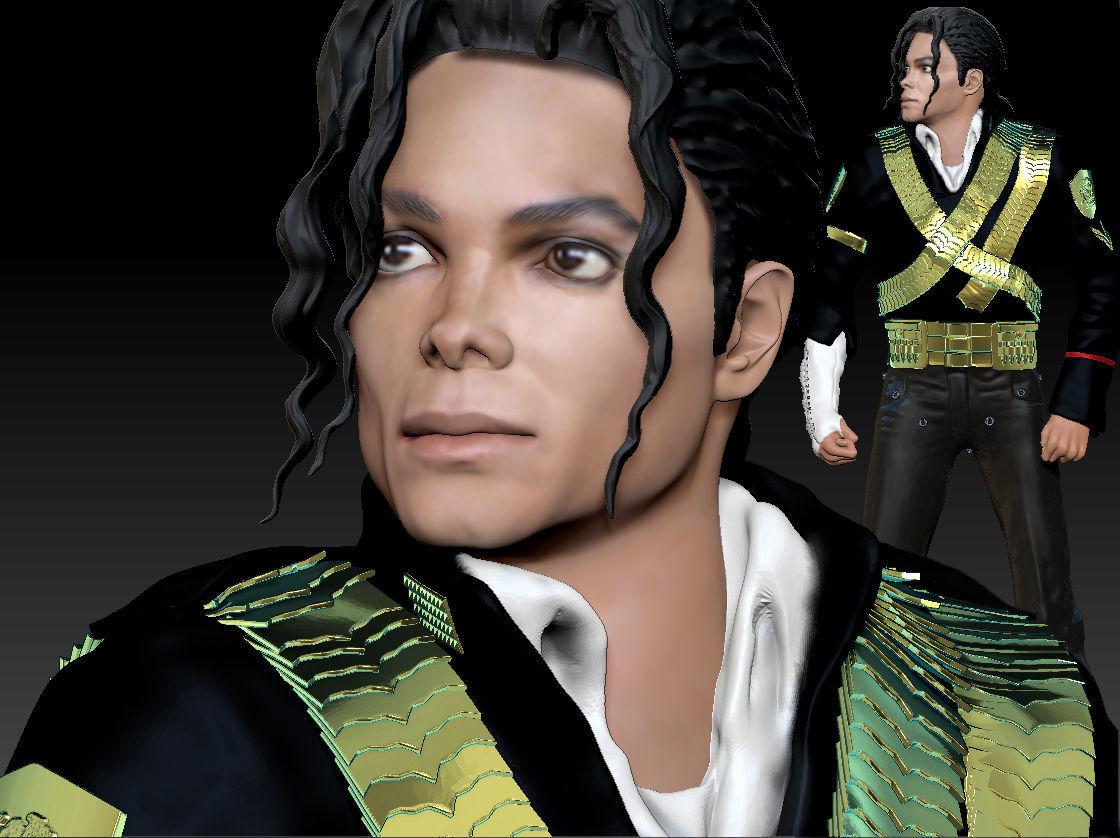 Michael Jackson 3d Model Textured 3d Printable
