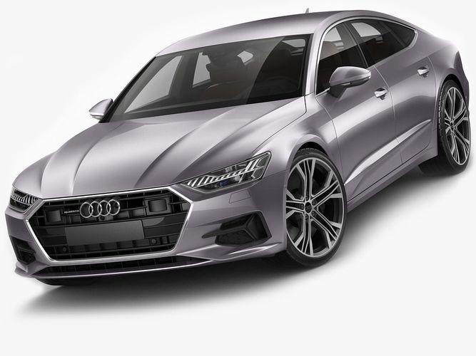 audi a7 sportback 2018 3d model max obj mtl 3ds fbx c4d lwo lw lws 1