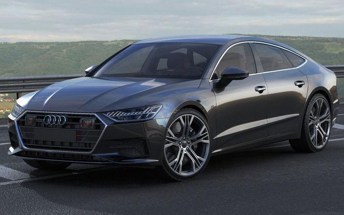 Audi A Sportback D Model CGTrader - 2018 audi a7