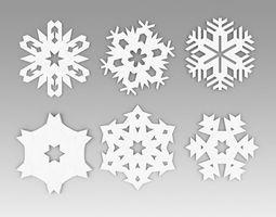 Snowflakes collection printable