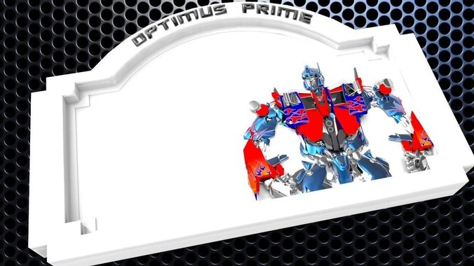 Optimus Prime Bedroom Door Sign Template 3d Print Model 2