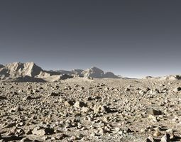 Mars in Terragen landscape 3D model