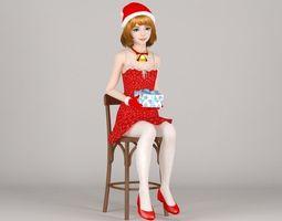 Lolita Christmas pose 02 3D model