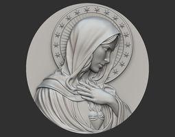 Virgin Mary Medallion no 2 3D print model