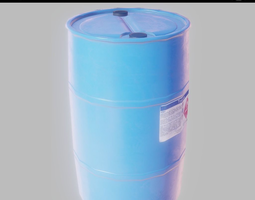 3D model Plastic barrel PBR Game-Ready